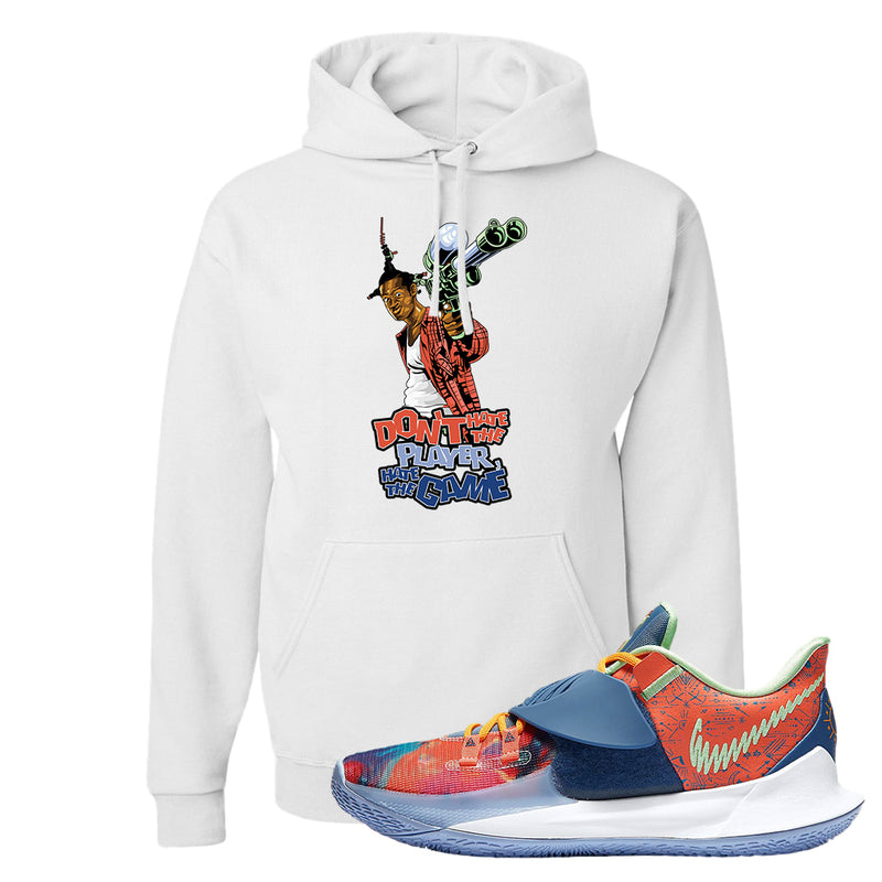 Kyrie Low 3 Ancient Symbols Hoodie | Don't Hate The Playa, White