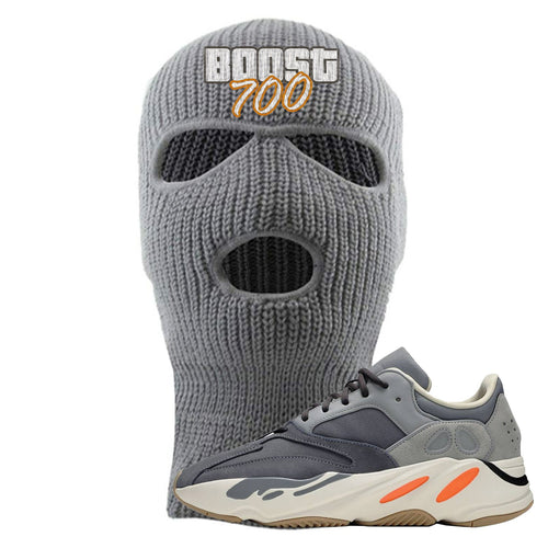 Yeezy Boost 700 Magnet GTA Cover Lettering Light Gray Ski Mask