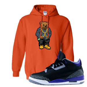 Air Jordan 3 Court Purple Hoodie | Sweater Bear, Orange
