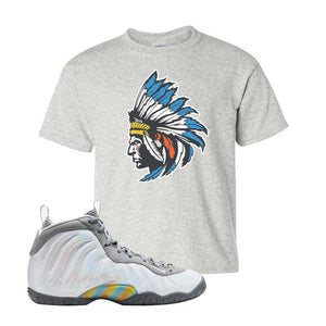Lil Posite One Rainbow Pixel Kids T Shirt | Ash, Indian Chief