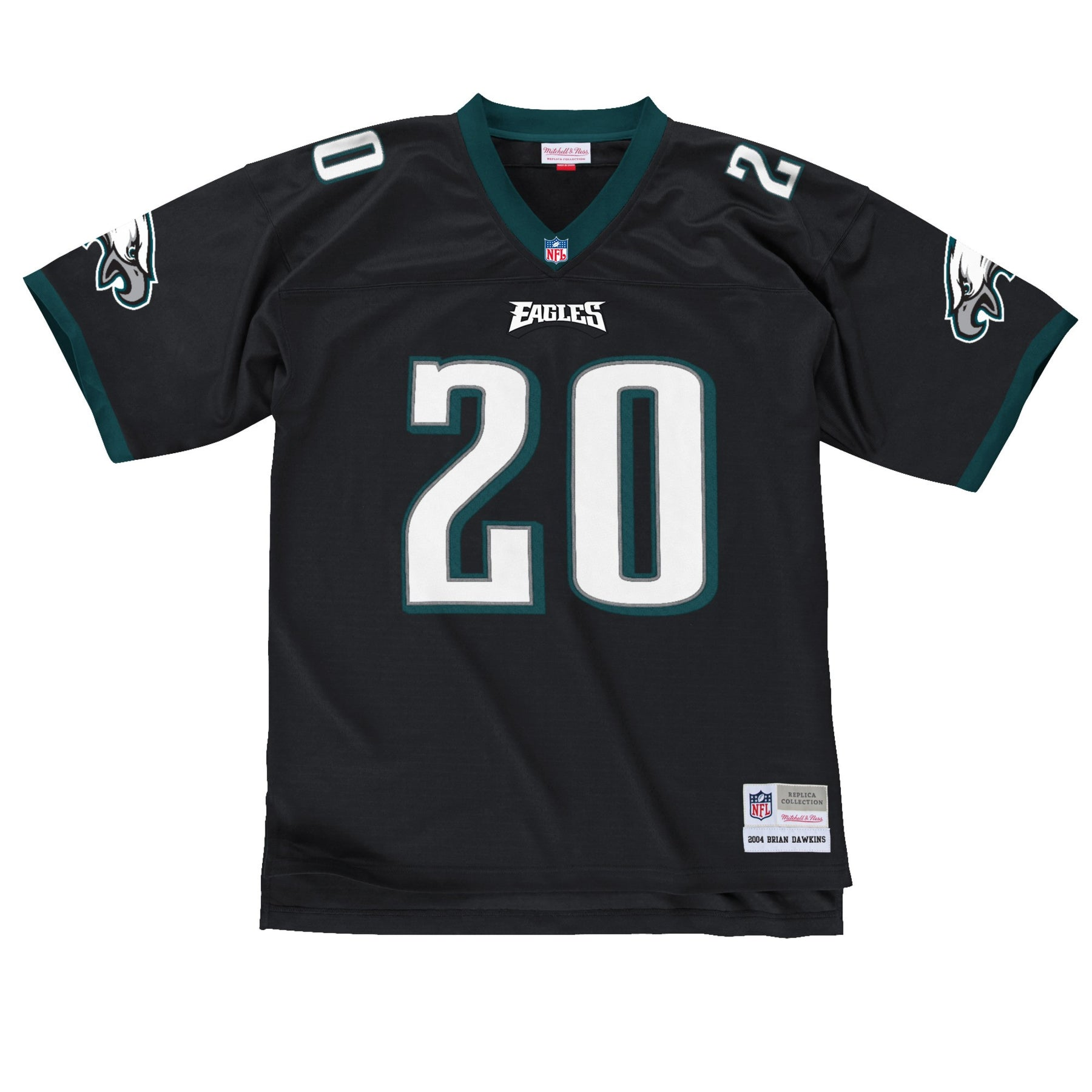 6c3408426bd The black brian dawkins throwback philadelphia eagles jersey is black, on  the front is the