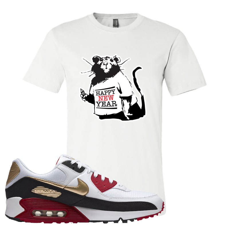 Air Max 90 Chinese New Year Women's T Shirt | White, Happy New Year Rat