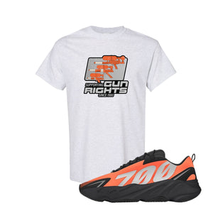 Water Soaker Ash Kid's T-Shirt to match Yeezy Boost 700 MNVN Orange Sneaker