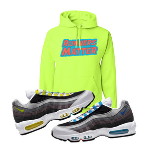 Air Max 95 QS Greedy Hoodie | Safety Green, Runners Matter