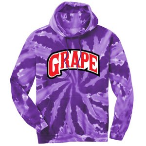 Backwoods Grape Purple Tie-Dye Crewneck Sweatshirt