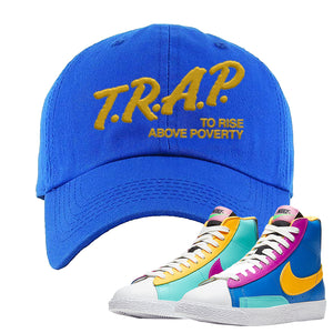 Blazer Mid Big Kids Dad Hat | Royal, Trap To Rise Above Poverty