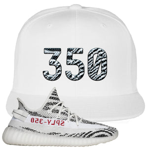 Yeezy Boost 350 V2 Zebra 350 White Sneaker Hook Up Snapback Hat