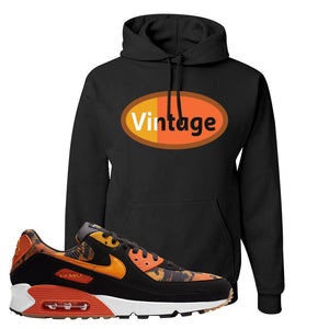Air Max 90 Orange Camo Hoodie | Vintage Oval, Black