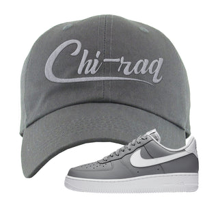Air Force 1 Low Wolf Grey White Dad Hat | Dark Gray, Chiraq