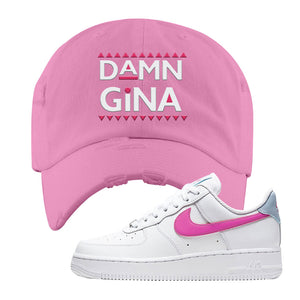 Air Force 1 Low Fire Pink Distressed Dad Hat | Pink, Damn Gina