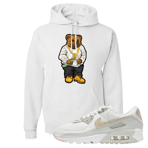 Air Max 90 Zebra Snakeskin Hoodie | Sweater Bear, White