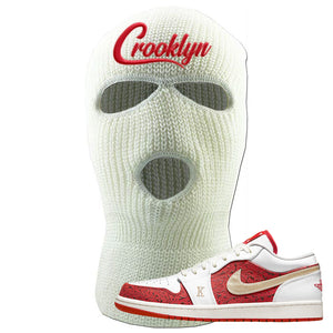Air Jordan 1 Low Spades Ski Mask | Crooklyn, White