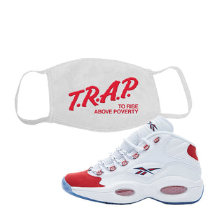 Question Mid OG Suede Toe Face Mask | Trap To Rise Above Poverty, White