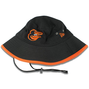 Baltimore Orioles Black Team Colored New Era Training Bucket Hat