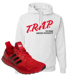 Ultra Boost 1.0 Nebraska Hoodie | Trap To Rise Above Poverty, White