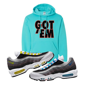 Air Max 95 QS Greedy Hoodie | Scuba Blue, Got Em