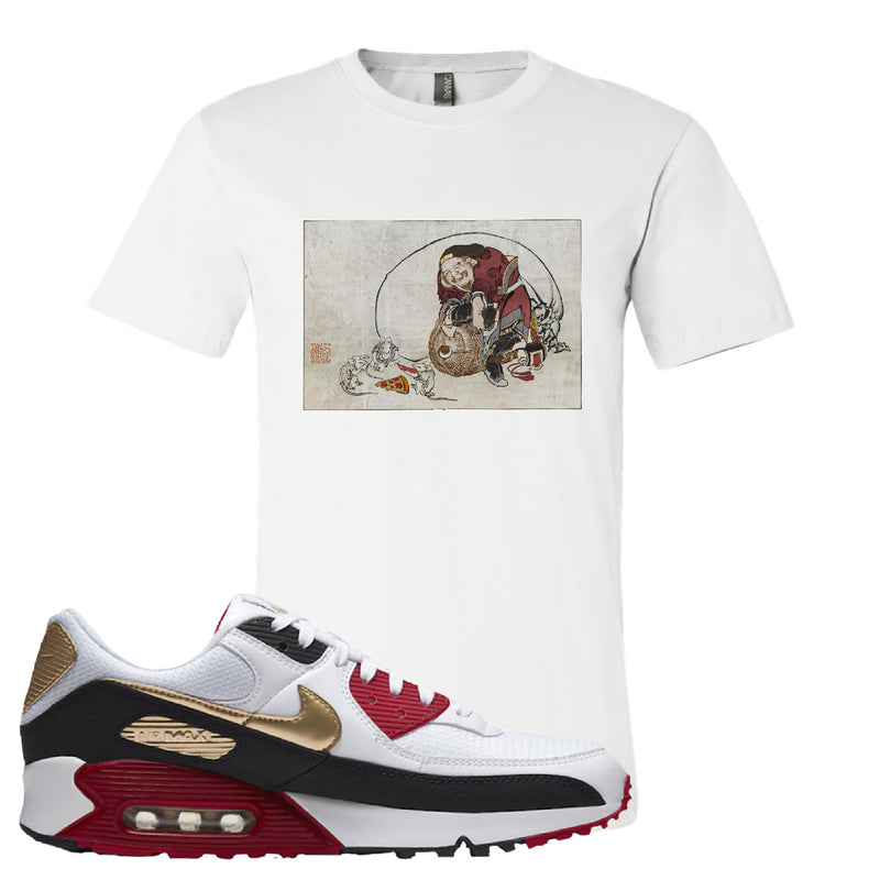 Air Max 90 Chinese New Year Women's T Shirt | White, Japanese Rat Party