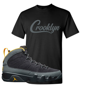 Air Jordan 9 Charcoal University Gold T Shirt | Crooklyn, Black