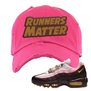 Air Max 95 Cuban Links Distressed Dad Hat | Pink, Runners Matter