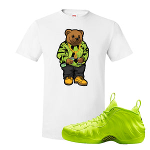 Air Foamposite Pro Volt T Shirt | Sweater Bear, White