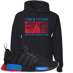 NMD R1 Black Red Boost Matching Hoodie | Sneaker hoodie to match NMD R1s | Franklin Eyes, Black