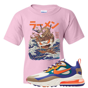 Air Max 270 React ACG Kid's T-Shirt | Light Pink, Ramen Monster