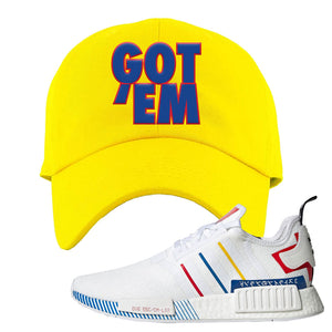 NMD R1 Olympic Pack Dad Hat | Yellow, Got em
