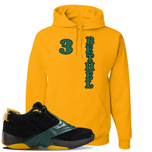 Answer 5 Bethel High Sneaker Charcoal Grey Pullover Hoodie | Hoodie to match Reebok Answer 5 Bethel High Shoes | Bethel 3 Vertical