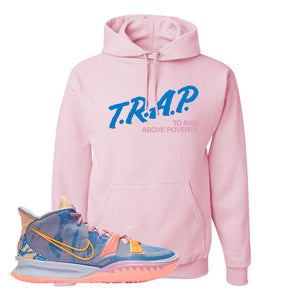 Kyrie 7 Expressions Hoodie | Trap To Rise Above Poverty, Light Pink