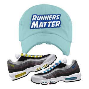 Air Max 95 QS Greedy Distressed Dad Hat | Mint, Runners Matter