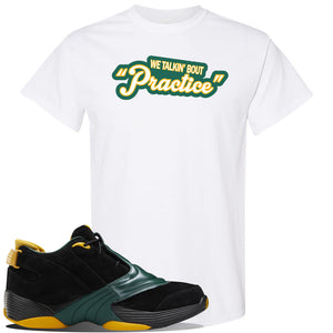 Answer 5 Bethel High Sneaker White T Shirt | Tees to match Reebok Answer 5 Bethel High Shoes | Talkin Bout Practice