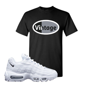 Air Max 95 White Black T Shirt | Black, Vintage Oval