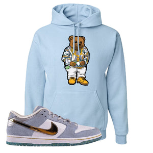 Sean Cliver x SB Dunk Low Hoodie | Sweater Bear, Light Blue