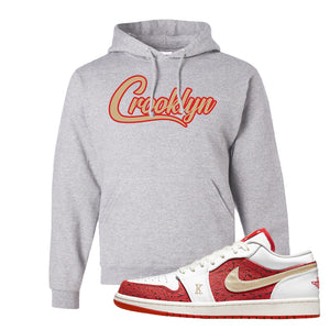 Air Jordan 1 Low Spades Hoodie | Crooklyn, Ash