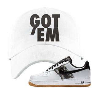 Air Force 1 Low Camo Dad Hat | Got Em, White