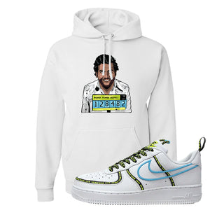 Air Force 1 '07 PRM 'Worldwide Pack' Hoodie | White, Escobar Illustration
