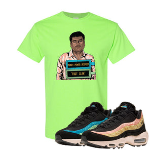 Air Max 95 Sergio Lozano T Shirt | El Chapo Illustration, Neon Green