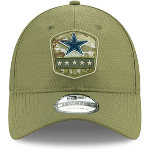 front of Cowboys military dad hat | Dallas Cowboys dad hat |  salute to service 9twenty