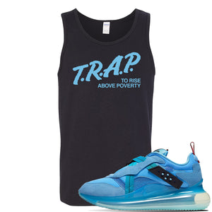 Air Max 720 OBJ Slip Light Blue Tank Top | Black, Trap To Rise Above Poverty