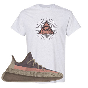 Yeezy 350 v2 Ash Stone T Shirt | All Seeing Eye, Ash
