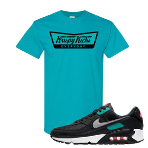Air Max 90 Black New Green T Shirt | Krispy Kicks, Tropical Blue