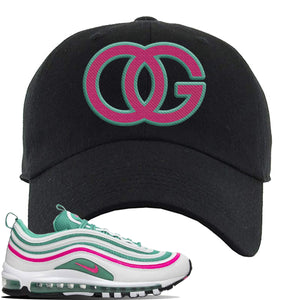 Air Max 97 'South Beach' Sneaker Black Dad Hat | Hat to match Nike Air Max 97 'South Beach' Shoes | OG