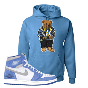 Air Jordan 1 High Hyper Royal Pullover Hoodie | Sweater Bear, Columbia Blue