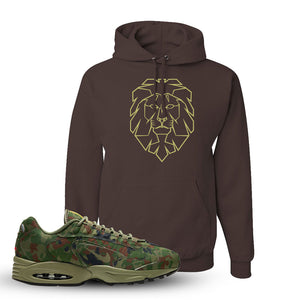 Air Max Triax 96 SP 'Safari' Sneaker Chocolate Pullover Hoodie | Winter Mask to match Nike Air Max Triax 96 SP 'Safari' Shoes | Cyber Lion