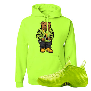 Air Foamposite Pro Volt Hoodie | Sweater Bear, Safety Green