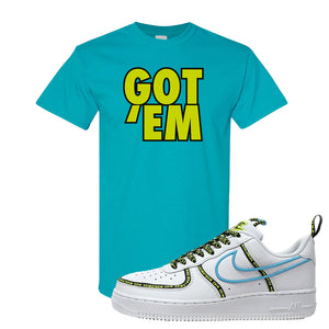 Air Force 1 '07 PRM 'Worldwide Pack' T Shirt | Tropical Blue, Got Em