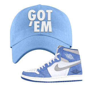 Air Jordan 1 High Hyper Royal Dad Hat | Got Em, Sky Blue
