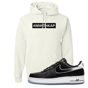 Colin Kaepernick X Air Force 1 Low I'm With Kap White Sneaker Hook Up Pullover Hoodie