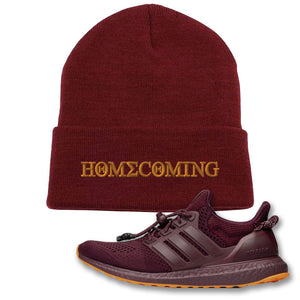 Homecoming Maroon Beanie to match Ivy Park X Adidas Ultra Boost Sneaker