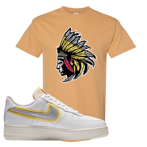 Air Force 1 Low 07 LX White Gold T Shirt | Indian Chief, Old Gold